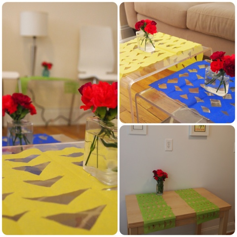 Tissue Paper Table Runner